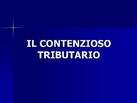 Tributi erariali indiretti (riforma tributaria del...